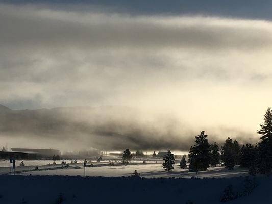 Slider airport morning fog