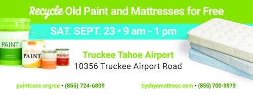 Large paintmattressrecyclingevent truckee