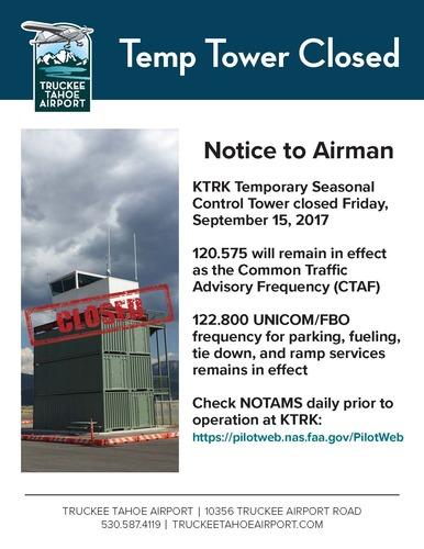Large tower closed radio freq